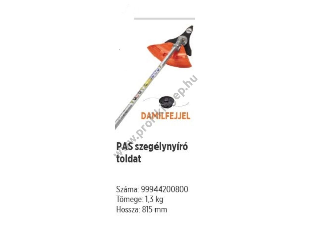 ECHO PAS szegélynyíró adapter PAS-2620ES