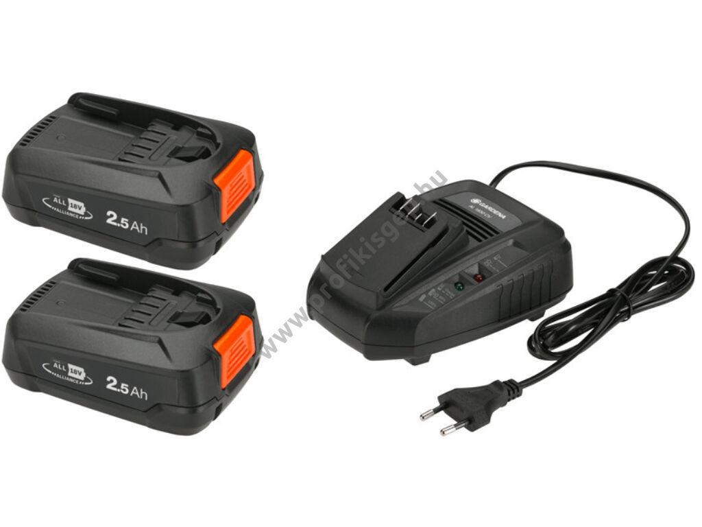 Gardena Akkumulátor készlet P4A 2 x 18V/45 + AL 1830 CV - 14907-20