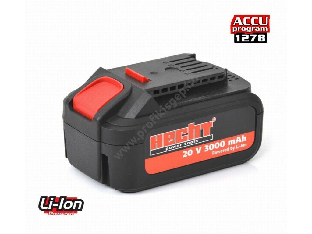 Hecht 001278B akkumulátor Li-ion, 20 V, 3 Ah.