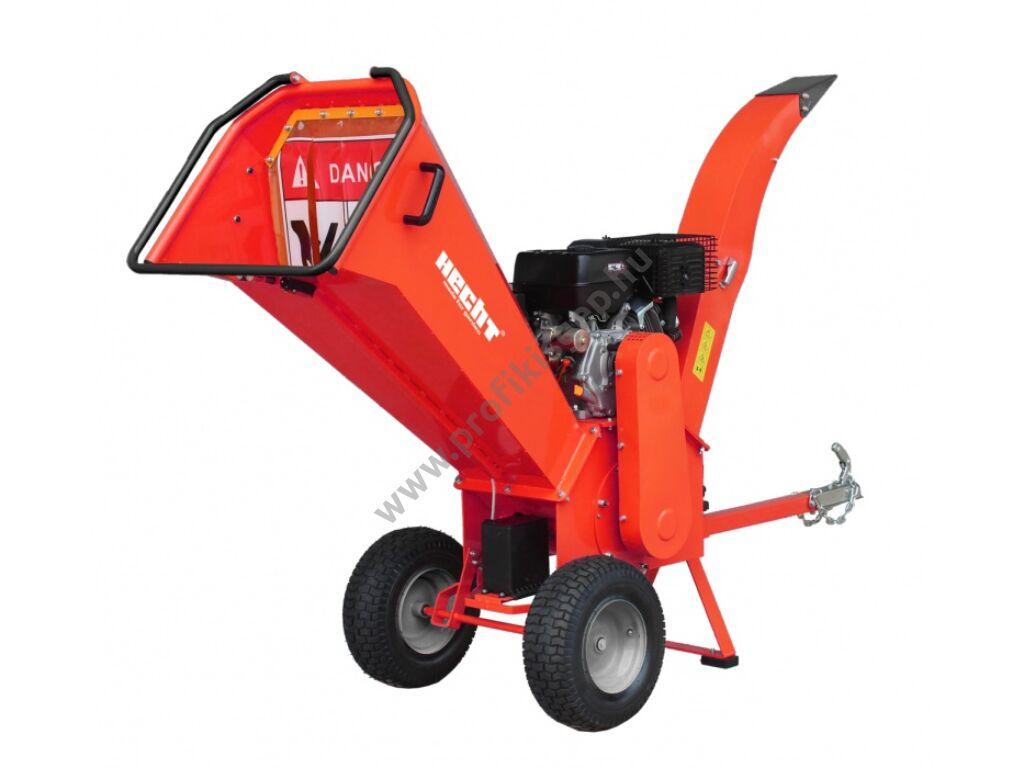 HECHT 6642 Benzinmotoros ágaprító, komposztáló, forgókéses, OHV420cm3, ágátmérő: 10cm, VONTATHATÓ - BEÜZEMELVE, ÖSSZESZERELVE SZÁLLÍTJUK!