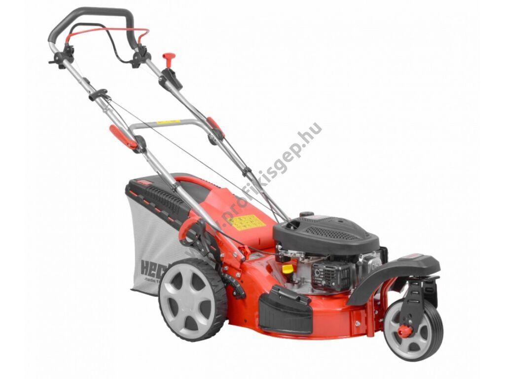 HECHT 5433 SW 5IN1 Benzinmotoros önjáró fűgyűjtős fűnyíró, 43cm, OHV 98,5cm3, oldalkidobó, mulcsbetét