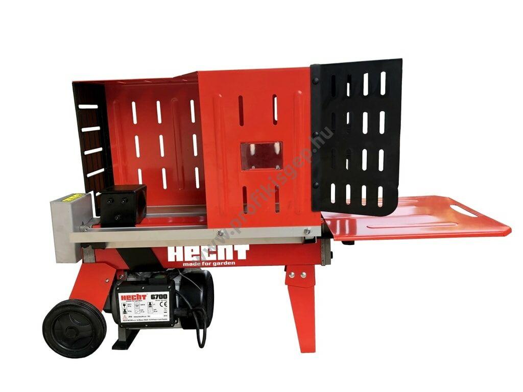 HECHT 6700 vízszintes rönkhasító, 4 tonna, 230V, 1500W, hossz: 37cm-ig
