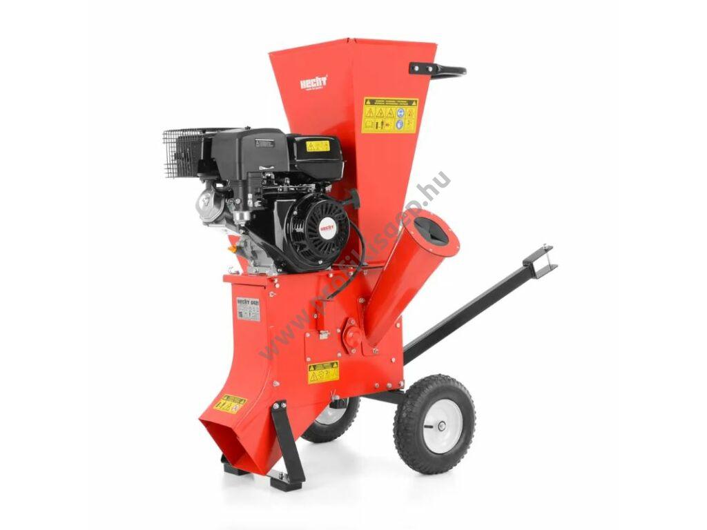 HECHT 6421 Benzinmotoros ágaprító, komposztáló, forgókéses, OHV389cm3, ágátmérő: 5cm