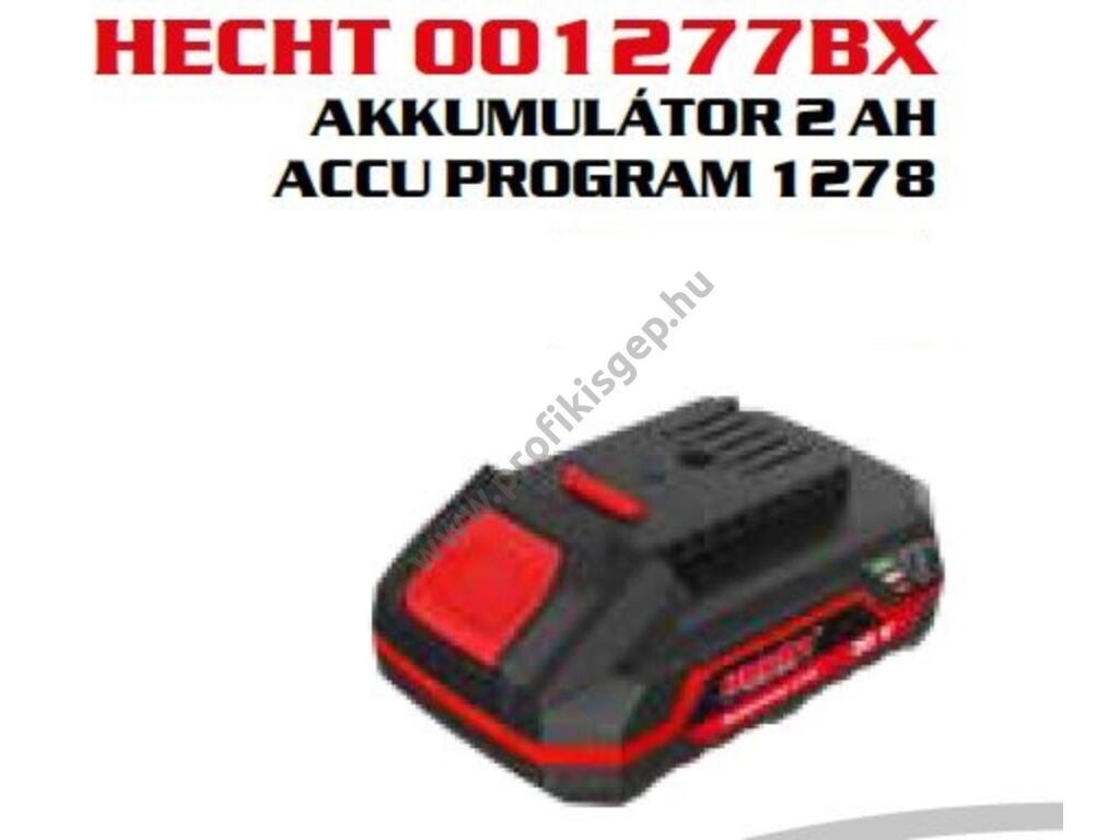 HECHT 001277BX akkumulátor, 20V, 4Ah, (AKKU program 1278)