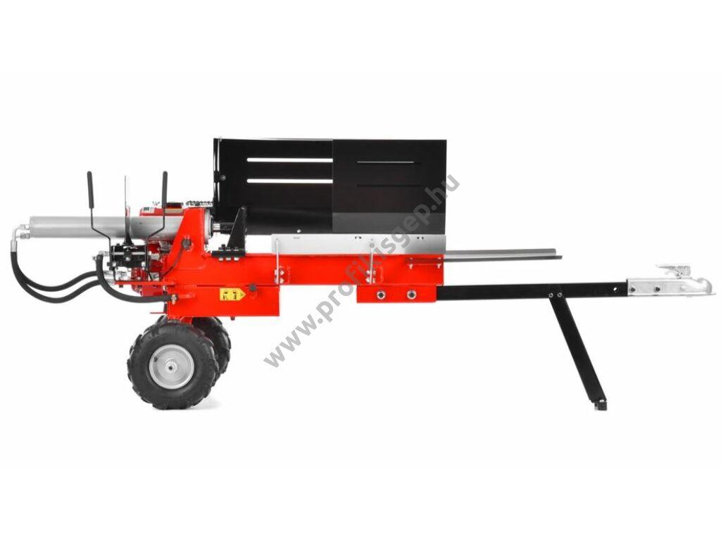 HECHT 6212 robbanómotoros vízszintes rönkhasító, 10 tonna, 212cm3, hossz: 52cm-ig, vontatható