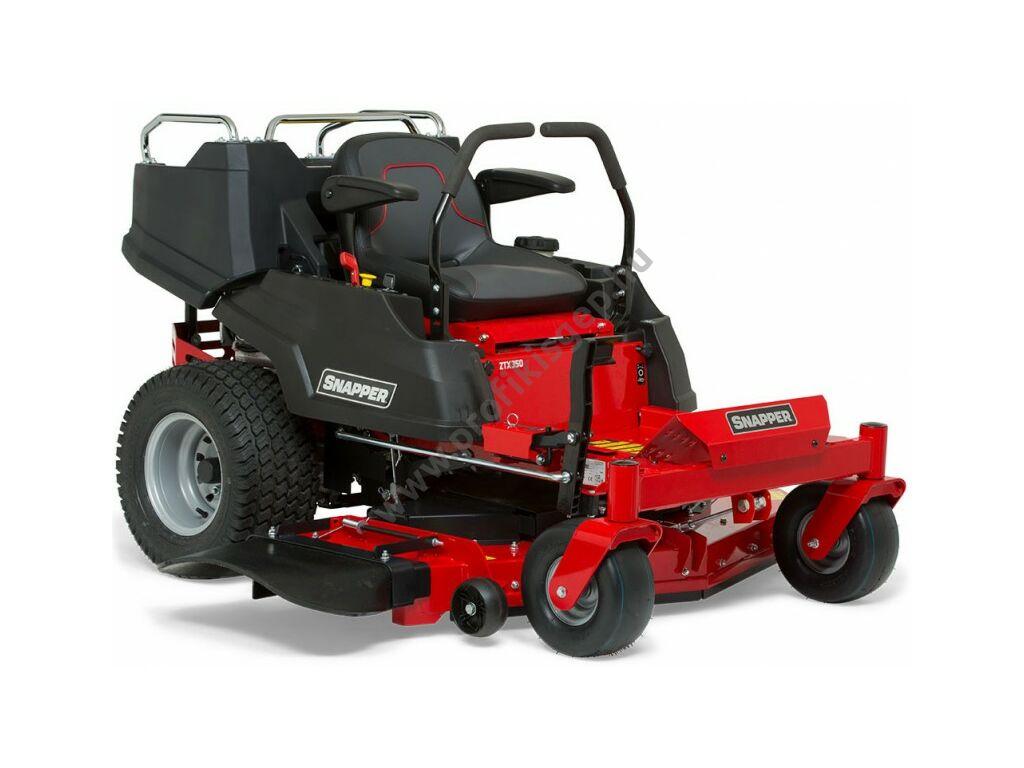 SNAPPER ZTX 350 ZERO TURN  '0' fordulókörös oldalkidobós fűnyíró traktor - kéthengeres Briggs&Stratton motor - hidrosztatikus - 132 cm 3 késes vágóasztallal