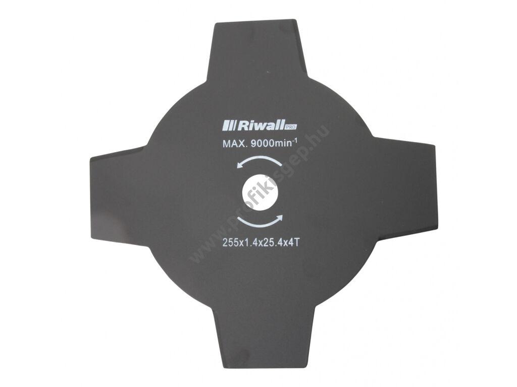 Riwall Négyágú vágókés fűkaszához 255mm / 25,4mm / 1,4 mm