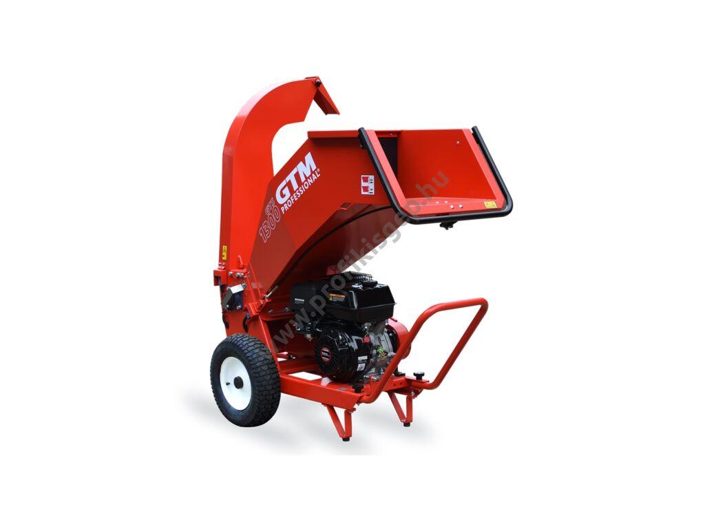 GTM professional GTS 1300 G Benzinmotoros ágaprító, komposztáló, Maróhengeres, Loncin 389cm3, ágátmérő: 10 cm