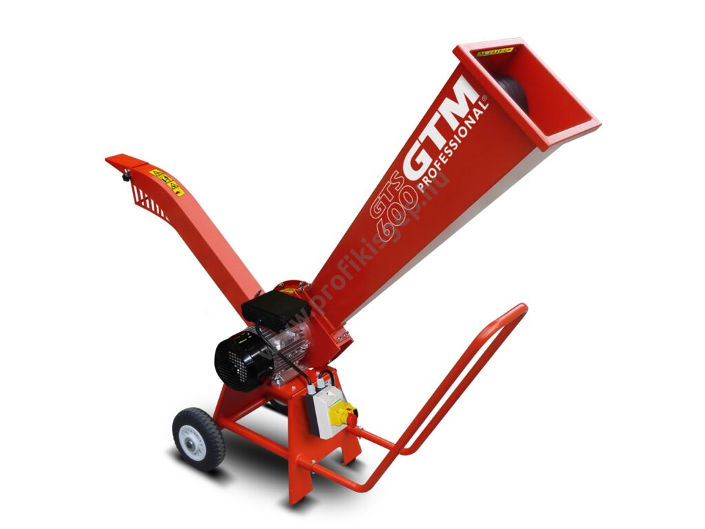 GTM professional GTS 600 E Elektromos ágaprító, komposztáló, Maróhengeres, 2200W, ágátmérő: 5 cm