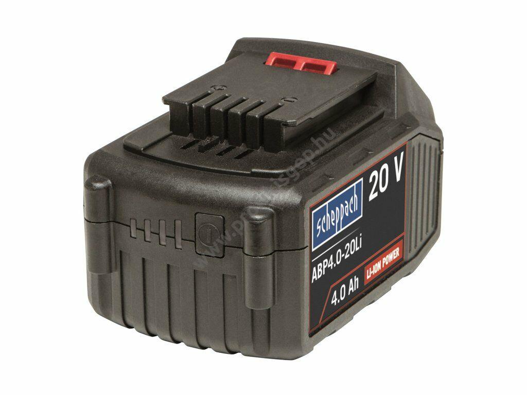 Scheppach Li-Ion akkumulátor 20 V 4 Ah