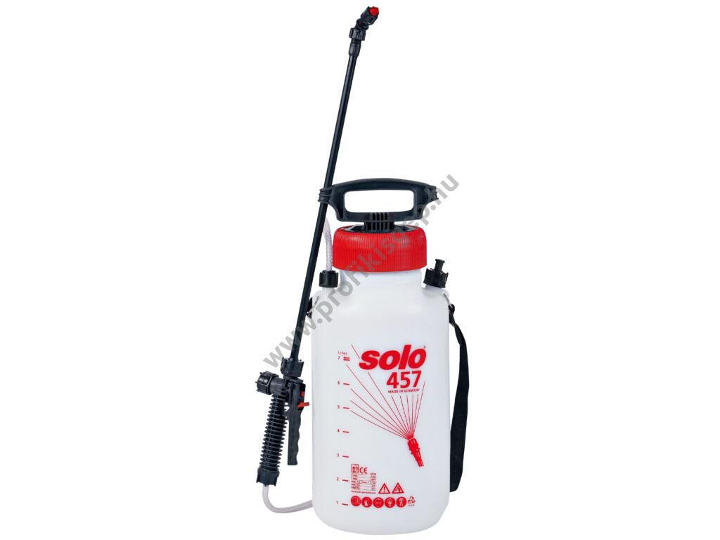 SOLO 457 permetező kézi pumpás vállhevederrel, 7 liter, 3.0 bar