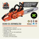 ECHO CS-2511WES/30 benzinmotoros láncfűrész