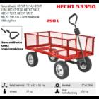 Hecht 53350 utánfutó fűnyíró traktorhoz, max: 350kg