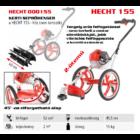 HECHT 155 benzinmotoros KEREKES bozótvágó, fűkasza 52cm3, 2Le, damilfej