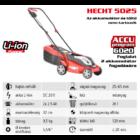 HECHT 5025 Akkumulátoros fűgyűjtős fűnyíró, 32cm, 20V, akku és töltő nélkül (AKKU program 6020)