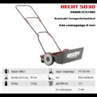 HECHT 5030 hengerkéses suhanó fűnyíró 30cm, fűgyűjtővel