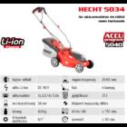 HECHT 5034 Akkumulátoros fűgyűjtős fűnyíró, 34cm, 40V, akku és töltő nélkül (AKKU program 5040)