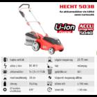 HECHT 5038 Akkumulátoros fűgyűjtős fűnyíró, 38cm, 40V, akku és töltő nélkül (AKKU program 5040)