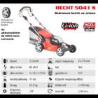 HECHT 5041S Akkumulátoros önjáró fűgyűjtős fűnyíró, 41cm, 40V, mulcsbetét, akku és töltő nélkül (AKKU program 5040)