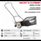 HECHT 514 PROFI hengerkéses suhanó fűnyíró 46 cm, fűgyűjtővel