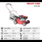 HECHT 540 Benzinmotoros fűgyűjtős fűnyíró, 40,6cm, OHV 127cm3