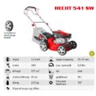 HECHT 541 SW Benzinmotoros önjáró fűgyűjtős fűnyíró, 40cm, OHV 127cm3