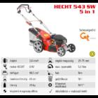 HECHT 543 SW 5IN1 Benzinmotoros önjáró fűgyűjtős fűnyíró, 43cm, OHV 98,5cm3, oldalkidobó, mulcsbetét