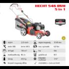 HECHT 546 BSW 5IN1 Benzinmotoros önjáró fűgyűjtős fűnyíró, 46cm, Briggs 140cm3, oldalkidobó, mulcsbetét
