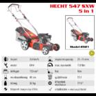HECHT 547 SXW Benzinmotoros önjáró fűgyűjtős fűnyíró, 46cm, OHV 150cm3, oldalkidobó, mulcsbetét