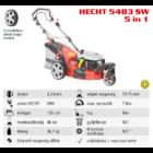 HECHT 5483 SW 5IN1 Benzinmotoros önjáró fűgyűjtős fűnyíró, 46cm, OHV 135cm3, oldalkidobó, mulcsbetét, 3 kerekű