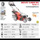 HECHT 5484 SX 5IN1 Benzinmotoros önjáró fűgyűjtős fűnyíró, 46cm, OHV 135cm3, állítható menetsebesség, oldalkidobó, mulcsbetét