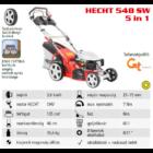 HECHT 548 SW 5IN1 Benzinmotoros önjáró fűgyűjtős fűnyíró, 46cm, OHV 135cm3, oldalkidobó, mulcsbetét