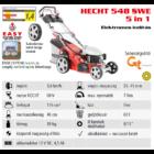HECHT 548 SWE 5IN1 Benzinmotoros önjáró fűgyűjtős fűnyíró, 46cm, OHV 135cm3, Önindító, oldalkidobó, mulcsbetét
