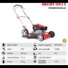 HECHT 5511 Benzinmotoros oldalkidobós fűnyíró, 51cm, OHV 144cm3, oldalkidobó, mulcsbetét