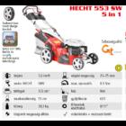 HECHT 553 SW 5IN1 Benzinmotoros önjáró fűgyűjtős fűnyíró, 51cm, OHV 173cm3, oldalkidobó, mulcsbetét