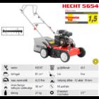 HECHT 5654 Benzinmotoros gyeplazító, 38cm, OHV 87cm3, 18 acél kés, fűgyűjtő