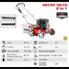 HECHT 5676 2IN1 Benzinmotoros gyepszellőztető, gyeplazító, 40cm, Briggs 163cm3, 18 acél kés, rugós tengely, fűgyűjtő