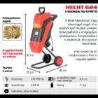 HECHT 624 Elektromos ágaprító, komposztáló, forgókéses, 2400W, ágátmérő: 4,5 cm