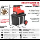 HECHT 6280 XL Elektromos ágaprító, komposztáló, Maróhengeres, 2800W, ágátmérő: 4,5 cm, gyűjtődoboz