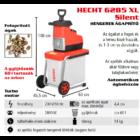 HECHT 6285 XL Elektromos ágaprító, komposztáló, Maróhengeres, 2800W, ágátmérő: 4,4 cm, gyűjtődoboz