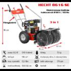 HECHT 8616 SE Benzinmotoros önjáró seprőgép, takarítógép, 62cm, OHV 196cm3, 4+2 sebesség, elektromos indítás hálózatról